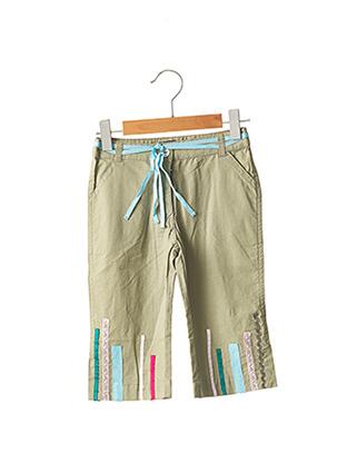 Pantalon casual vert LILI GAUFRETTE pour fille