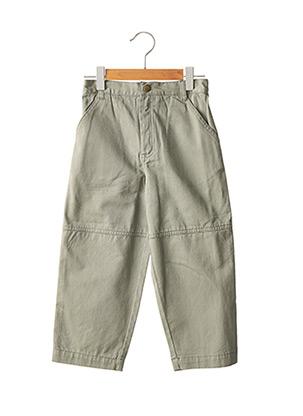 Pantalon casual vert MARCEL ET LEON pour garçon