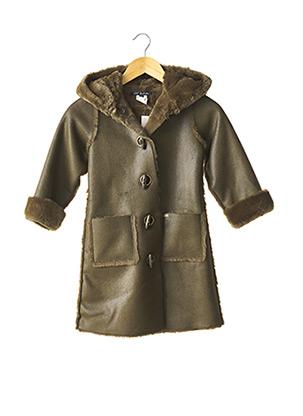 Manteau long vert LILI GAUFRETTE pour fille