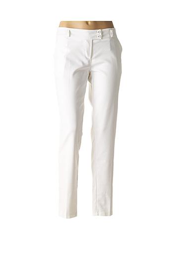 Pantalon chic blanc RINASCIMENTO pour femme
