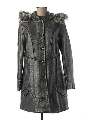 Manteau long gris FRED SABATIER pour femme