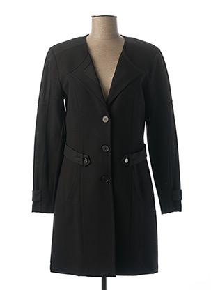 Manteau long noir FRED SABATIER pour femme
