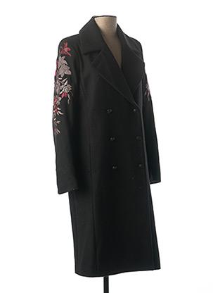 Manteau long noir ONE STEP pour femme