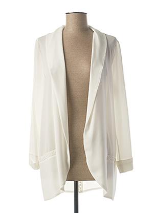Veste casual blanc FRED SABATIER pour femme