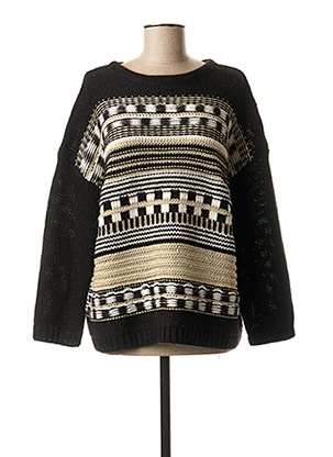 Pull col rond noir ONE STEP pour femme