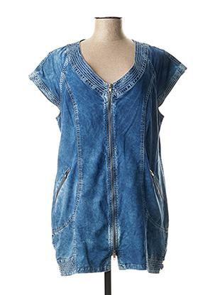 Tunique manches courtes bleu FRED SABATIER pour femme