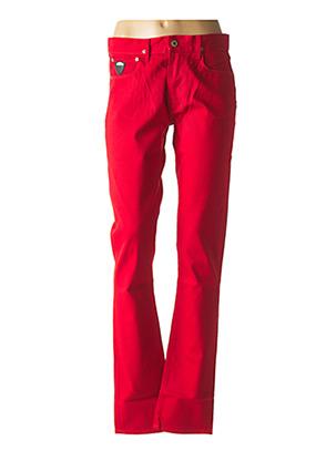 Jeans coupe droite rouge APRIL 77 pour femme