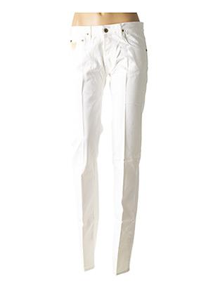 Jeans coupe slim blanc APRIL 77 pour femme