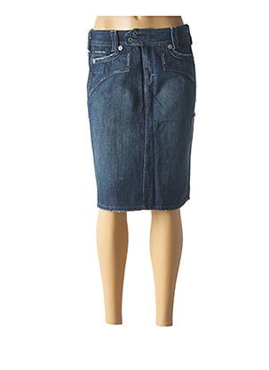 Jupe mi-longue bleu APRIL 77 pour femme