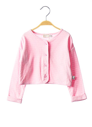 Gilet manches longues rose CHICCO pour fille
