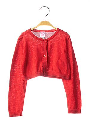 Gilet manches longues rouge CHICCO pour fille