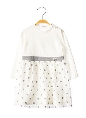 Robe mi-longue blanc GYMP pour fille