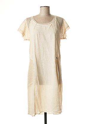 Robe mi-longue beige FRED SABATIER pour femme