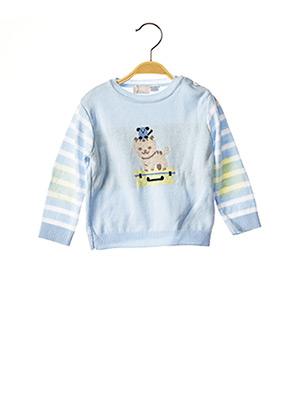 Pull col rond bleu CHICCO pour enfant