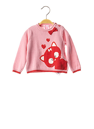 Pull col rond rose CHICCO pour fille