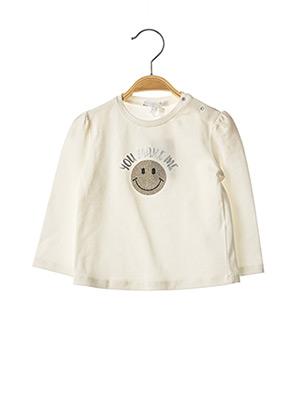 T-shirt manches longues blanc GYMP pour fille