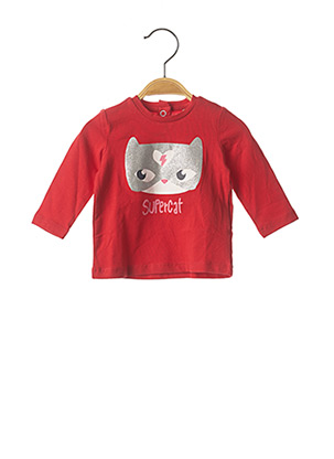T-shirt manches longues rouge CHICCO pour fille