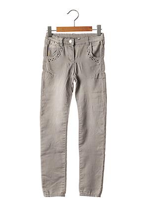 Jeans coupe slim gris CHICCO pour fille