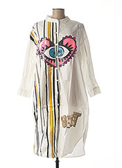 Robe mi-longue blanc BUBBLEE pour femme seconde vue