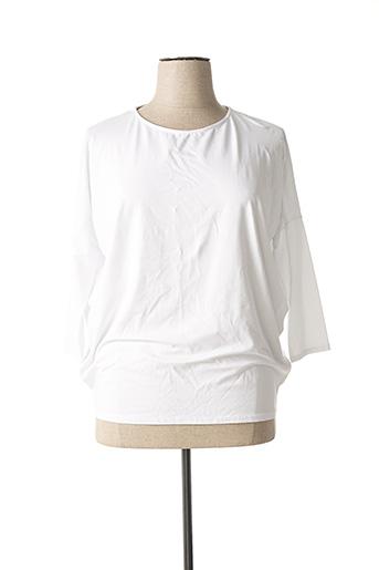 T-shirt manches longues blanc LUMINA pour femme