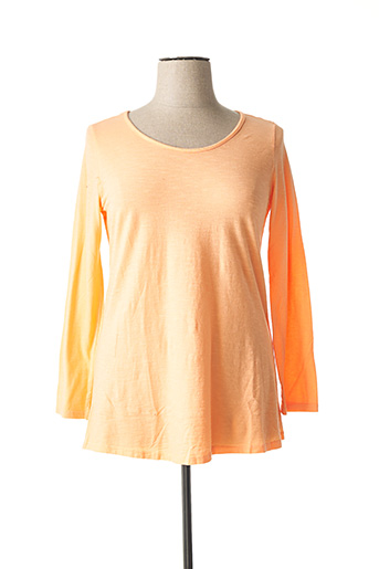T-shirt manches longues orange WIYA pour femme
