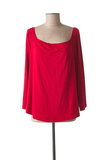 T-shirt manches longues rouge MAT. pour femme