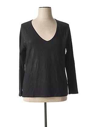 T-shirt manches longues noir LAUREN VIDAL pour femme