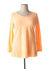 T-shirt manches longues orange WIYA pour femme seconde vue