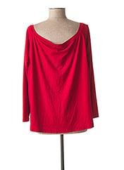 T-shirt manches longues rouge MAT. pour femme seconde vue