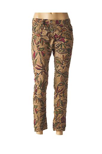 Pantalon 7/8 beige PLEASE pour femme