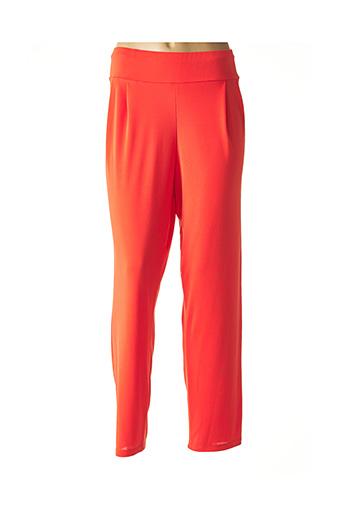 Pantalon chic orange AN II VITO pour femme