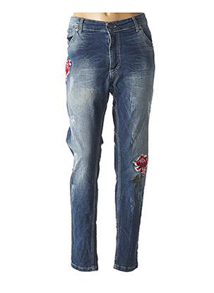 Jeans coupe slim bleu CURVY BY KOIBA pour femme
