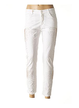Pantalon 7/8 beige CURVY BY KOIBA pour femme