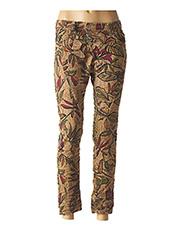 Pantalon 7/8 beige PLEASE pour femme seconde vue