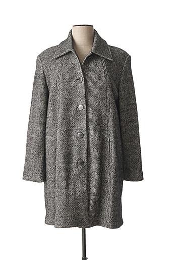Manteau long gris GEVANA pour femme