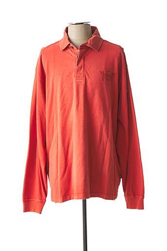 Polo manches longues orange HAJO pour homme