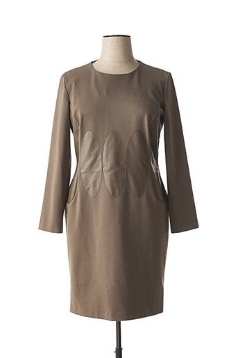 Robe mi-longue beige BUGARRI pour femme