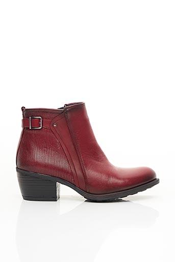 Bottines/Boots rouge DORKING pour femme