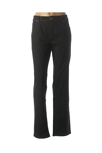 Jeans coupe droite noir ANNA MONTANA pour femme