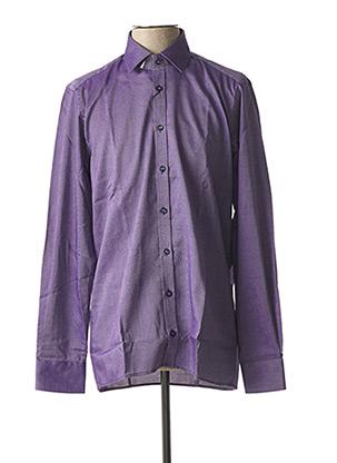 Chemise manches longues violet JUPITER pour homme
