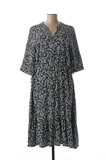 Robe mi-longue bleu BROADWAY pour femme