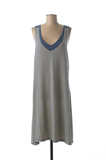 Robe mi-longue bleu MASSANA pour femme