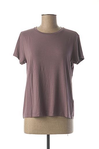 T-shirt manches courtes violet SAMSOE & SAMSOE pour femme