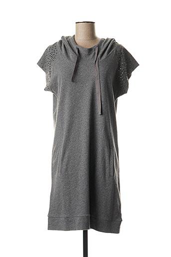 Robe mi-longue gris DEHA pour femme