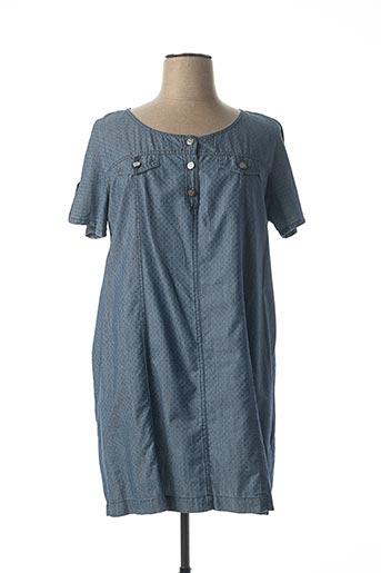 Robe mi-longue bleu EL INTERNATIONALE pour femme
