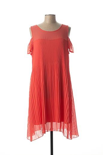 Robe mi-longue orange NINATI pour femme