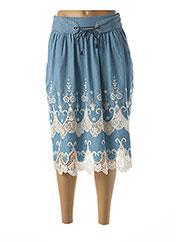 Jupe mi-longue bleu DESIGUAL pour femme seconde vue