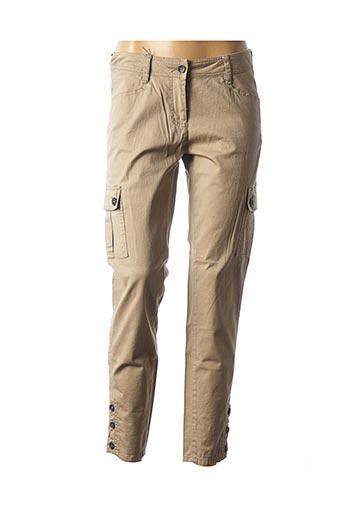 Pantalon 7/8 marron SANDWICH pour femme