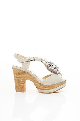 Sandales/Nu pieds gris GADEA pour femme