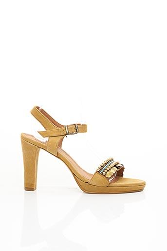 Sandales/Nu pieds marron REQINS pour femme